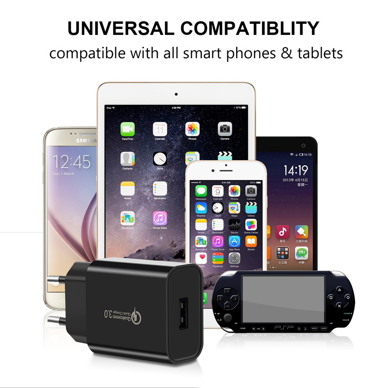 Oppselve Quick Charge 3 0 2 USB Charger 18W QC 3 0 Fast Charging USB Wall Charger For iPhone Samsung Xiaomi Mobile Phone Charger in Mobile Phone Chargers from Cellphones Telecommunications
