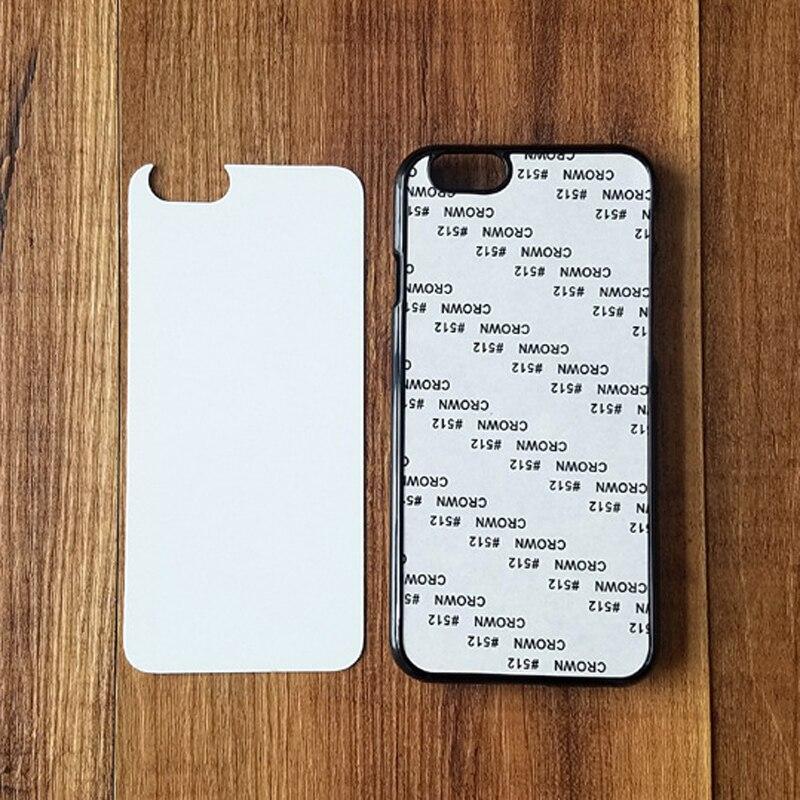 imágenes para Para el iphone 6 2D Duro Cajas Del Teléfono de La Sublimación PC para el iphone 6 4.7 pulgadas con Inserto de Metal Blanco DIY Diseño Contraportadas vivienda