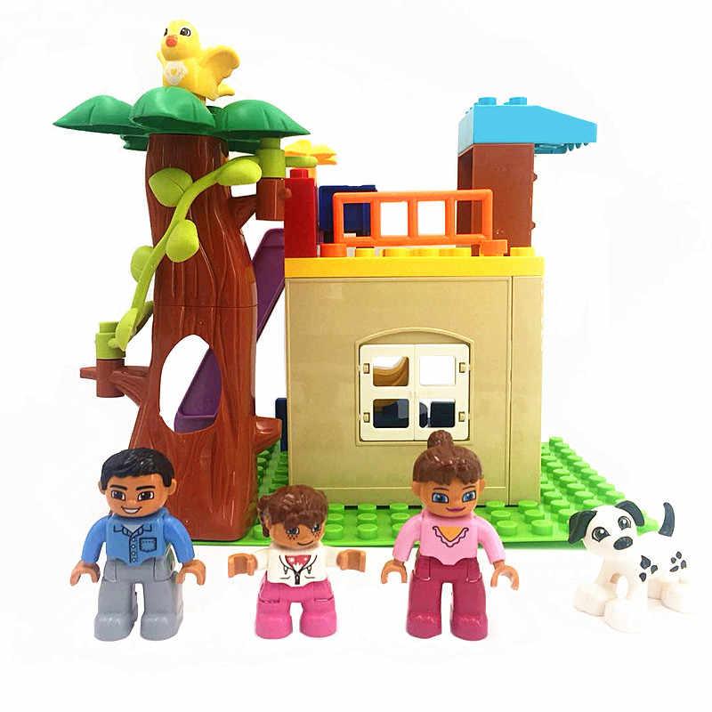 Accesorios de Casa piezas muñeca feliz familia Diy bloques de construcción juego de ladrillos juguetes educativos para niños