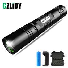 Waterproof portable flashlight 5 lighting mode LED mini use 18650 battery suitable for night lighting, camping, etc.
