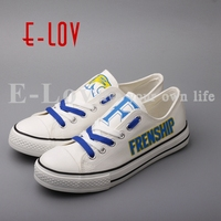 2018 USA College Customization Canvas Shoes Print White Shoes Woman Girls Frenship Tigers Group Order Low