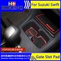 Acessórios do carro para SUZUKI SWIFT 2011-2014 anti slip adesivo pad ranhura portão porta tapetes de carpete Porta Interior Cup titular