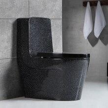 Ванная комната многоцветные персонализированные мраморные туалеты Циклон Промывка цельный керамический унитаз сантехника Туалет анти-запах