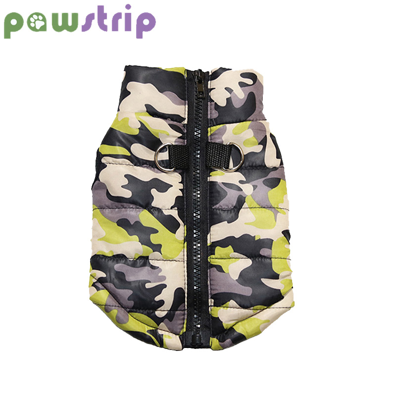 Pawstrip 8 Patterns Camo Winter Dog Jacket Waterproof Puppy Clothes Warm Small Dog Coat For Pomeranian Teddy Clothes Xs-xl
