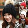 Бесплатная Доставка Новая Мода Chic Теплая Зима Женщины Плетеный Багги Вязания Крючком Шапочка Лыж Cap Hat