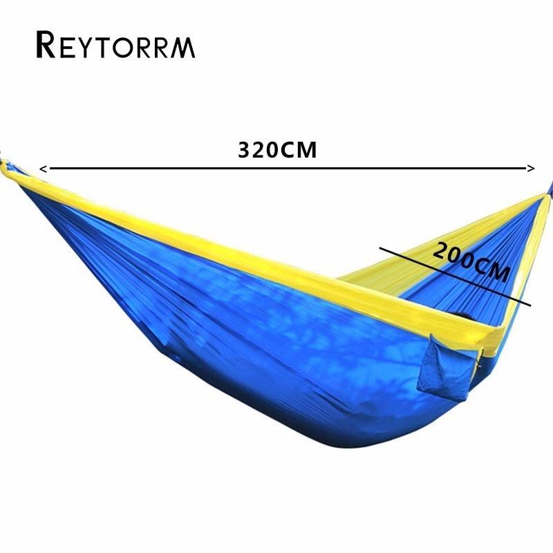 Lightweight Super Large Parachute Hammock 210T Nylon Fabric Hanging Hamac For Outdoor Camping Survival Beach Yard 320*200cm