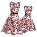 Hija de la madre vestidos grandes muchachas de flor vestido vestido de ropa de la familia de madre e hija adolescente ocasional clothing a juego para los niños