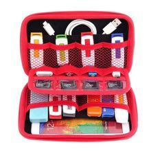 Сумка для цифровых устрйоств Портативная сумка для хранения HDD, USB флэш-накопитель, телефон, наушники, sd-карта, здоровье USB ключ