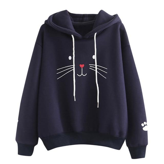 brixini.com - Harajuku Cat Face Hoodies