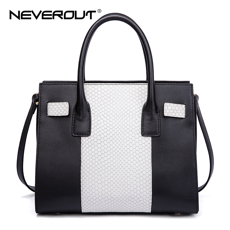 NeverOut Lady Zipper Travel Bag New Arrival Female Casual Tote Real Leather Handbags Fashion Design Women Women Top-Handle Bags ut612 digital lcr meter with inductance capacitance resistance frequency tester