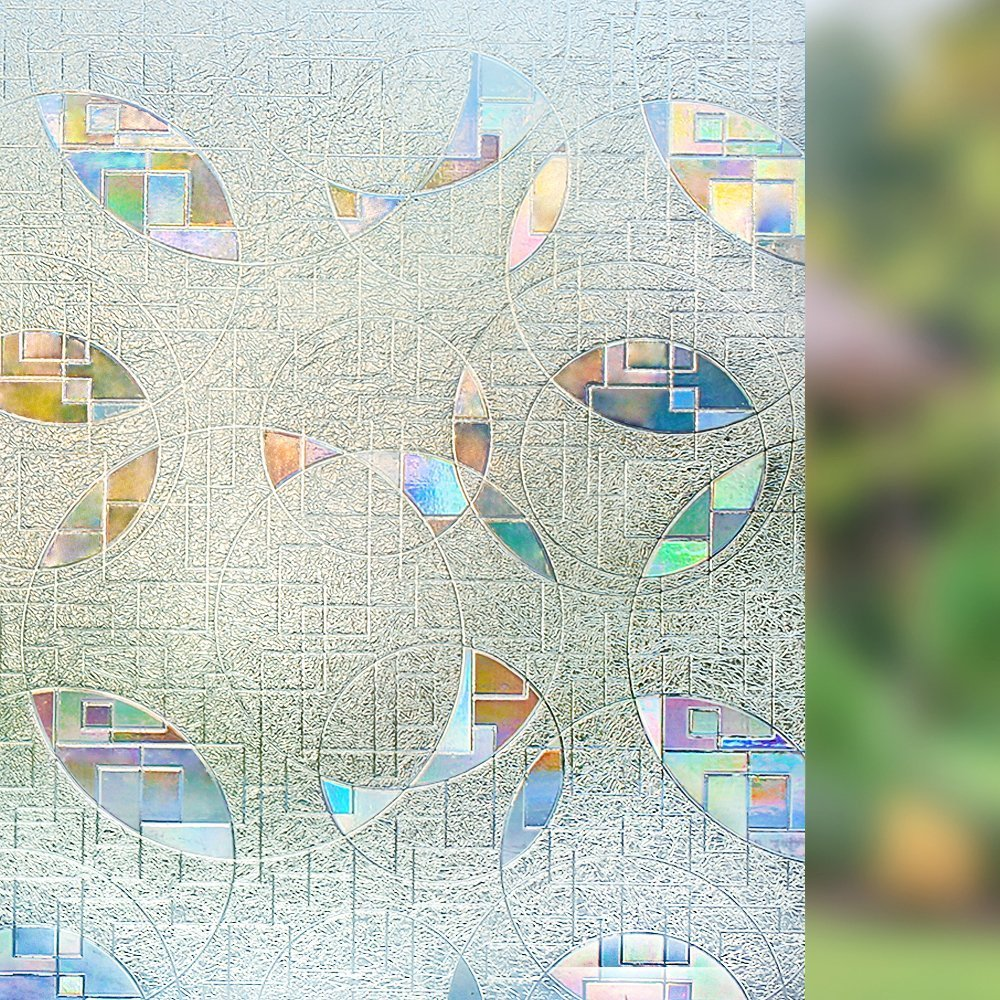 Funlife 3D Window Film Privacy Static Cling Vinyl No-Glue Tint Anti UV Glass