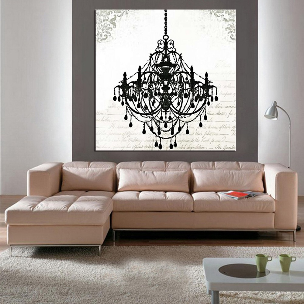 1 Panel Modern Still Life Painting Canvas Art Crystal Chandelier Pattern Retro Living Room Bedroom Wall
