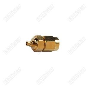 2 peças sma macho para mmcx macho plug em linha reta rf conector coaxial adaptador banhado a ouro