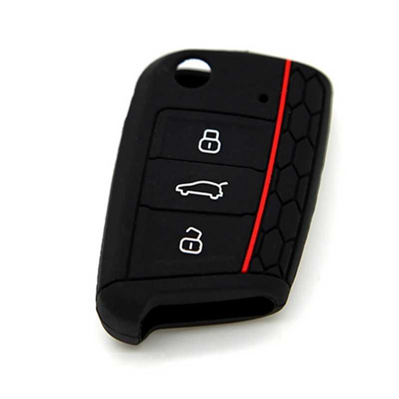 Aksesoris Mobil Kunci Tas Kunci Kunci Cover untuk Golf 7 Mk7 Skoda Octavia A7 Kunci Melindungi Case Mobil -Styling