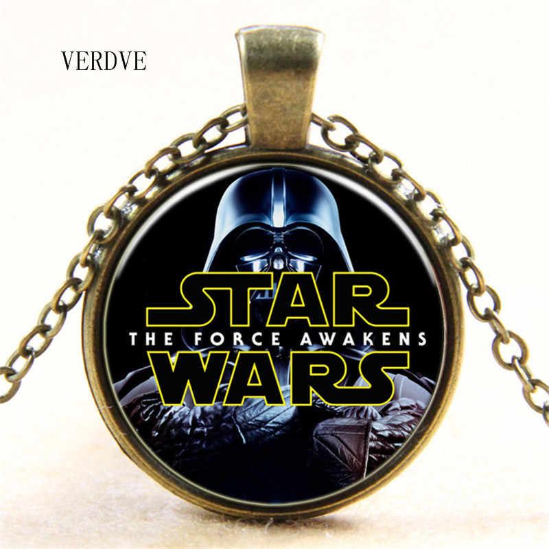 Бесплатная доставка Звездные войны Подвеска из хрустального стекла ожерелье для мужчин и женщин подарок