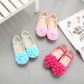 children shoes Spring and Autumn new large flowers children shoes girls princess Students dance small shoes leather kids shoes