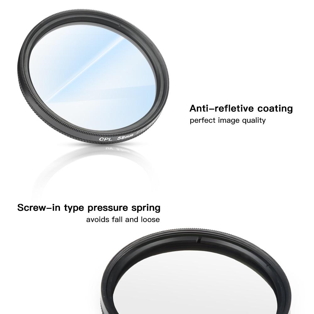 SHOOT 58mm Filtro UV para GoPro Hero 6 5 7 Negro Cubierta de la lente - Cámara y foto - foto 3