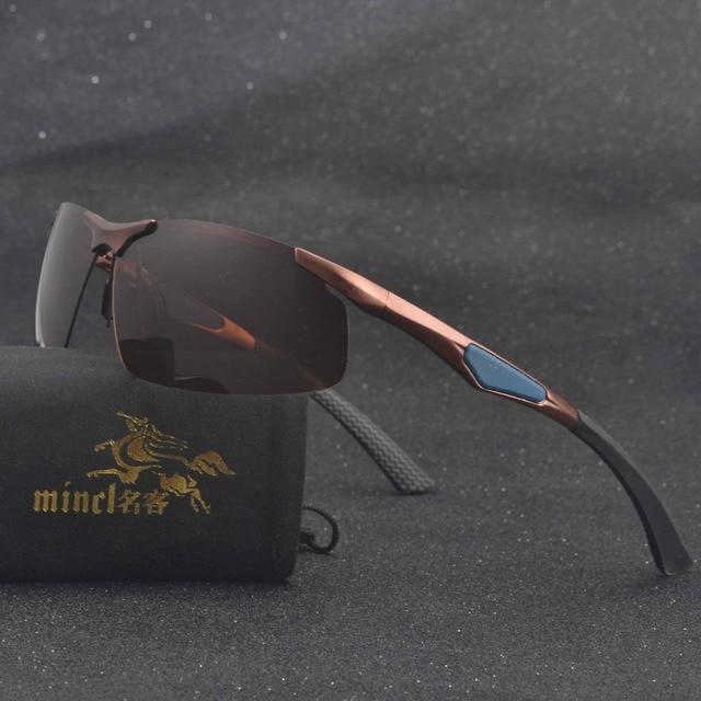 5121409d25 MINCL Men s Driving Sunglasses Polarized Al+Mg Sunglasses Sports Eyewear  Fishing Golf Goggles-