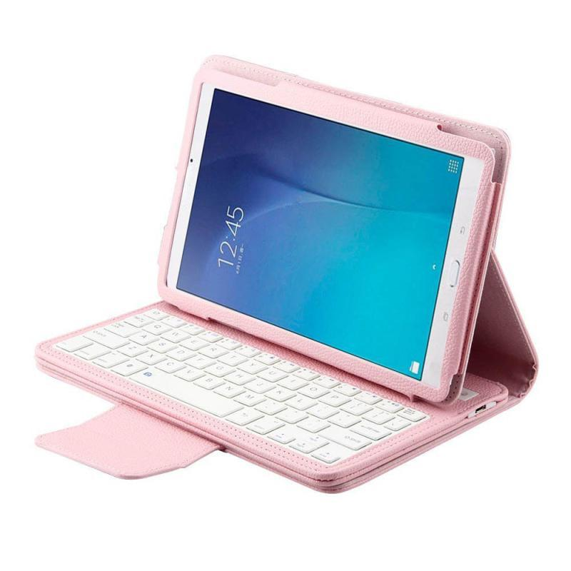 Заводская цена новая кожа флип Беспроводной Bluetooth клавиатура чехол для samsung Galaxy TAB E T560 9,6 дюймов MApr8 Бесплатная доставка