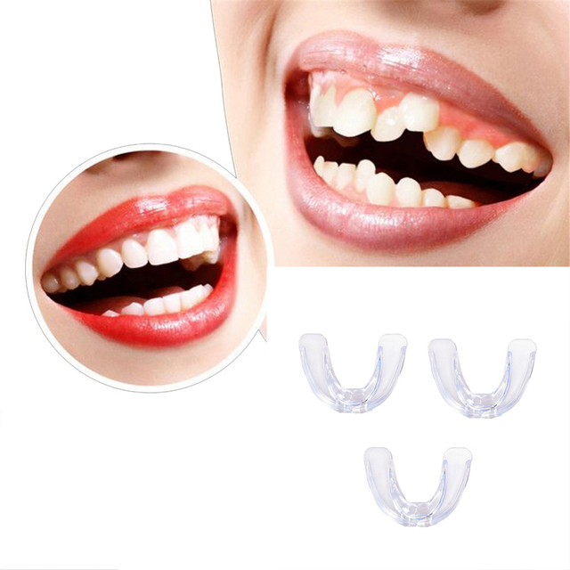 3pcs Soft Orthodontic Brace Buck Teeth Care Boxing Tooth Protector Dental Mouthpieces Orthodontic Appliance Trainer