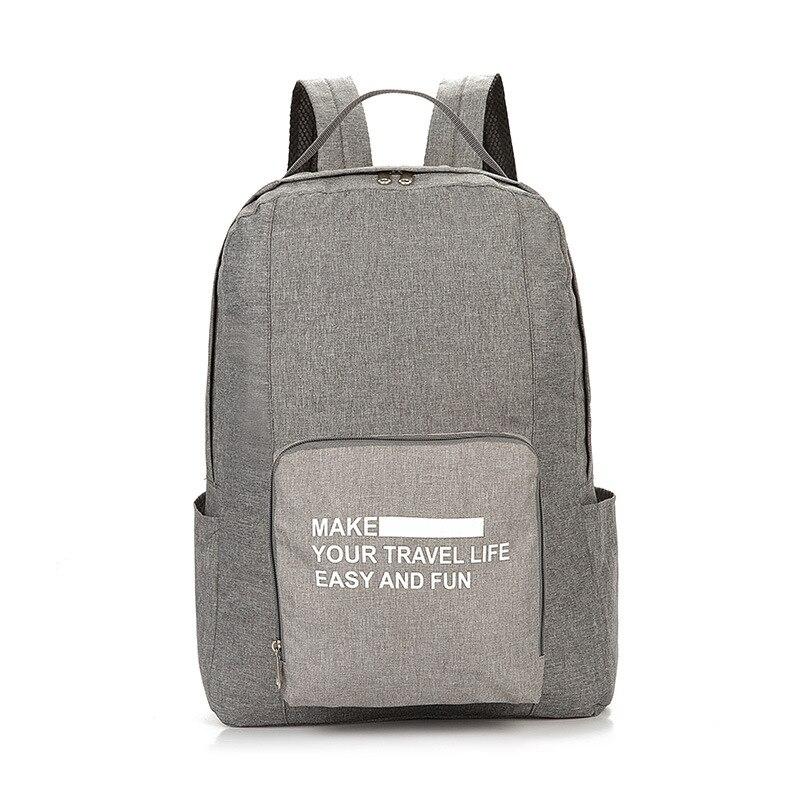 Мужские дорожные сумки, водонепроницаемая нейлоновая складная сумка для ноутбука, вместительная сумка для багажа, дорожные сумки, портативные женские сумки - Цвет: gray 3