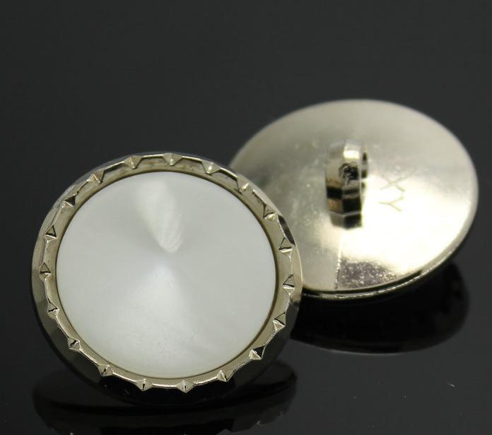 25mm Plastic resin plating silver imitation pearl sweater Button coat shank buttons 200pcs/lot free shipping