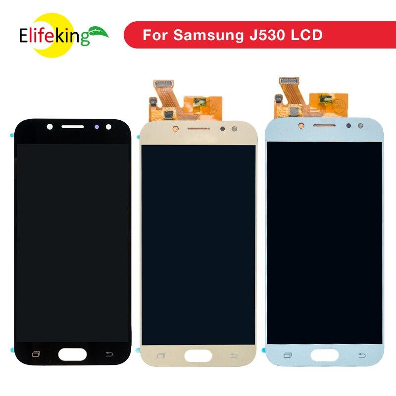 Amoled LCD Completo Para SAMSUNG Galaxy J5 2017 J530 Display LCD assembléia Tela de Toque Para SAMSUNG Galaxy J5 2017 J530F j530FN