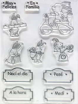 Hiszpański znaczek jasne znaczek dla Scrapbooking przezroczysty Silicone Rubber DIY Photo ozdoba do albumu 112 tanie i dobre opinie lianshangmei Standardowy znaczek Dekoracji