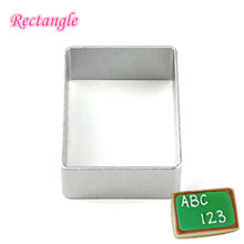 Party Biscuit Cookie Cutter Tin -rectangle 1pcs