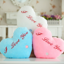 Luminous pillow Toys, Led Light Love Heart Pillow,Plush Pillow, Hot Colorful Stars,Kids Toys, Birthday Gift, Free Shipping