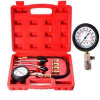 Car Motorcycle Engine Cylinder Compression Tester Pressure Gauge Meter Tool Set Adapters for a wide number of vehicles