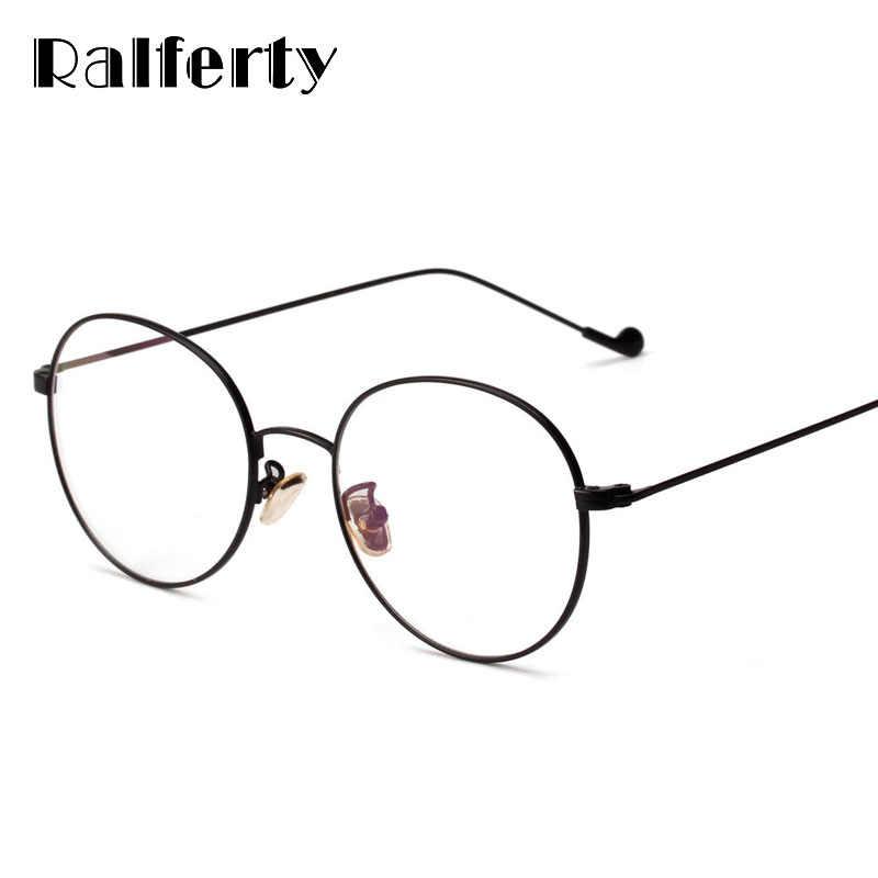 e9ff502b13 Ralferty Vintage Round Glasses Frames Women Eyewear Eyeglasses Frame For  Optical Myopia Gold Black oculos de