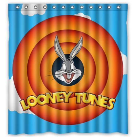 Cute Looney Tunes Chiristmas Gift Moden Shower Curtain Bathroom Waterproof 66x72 Free Shipping