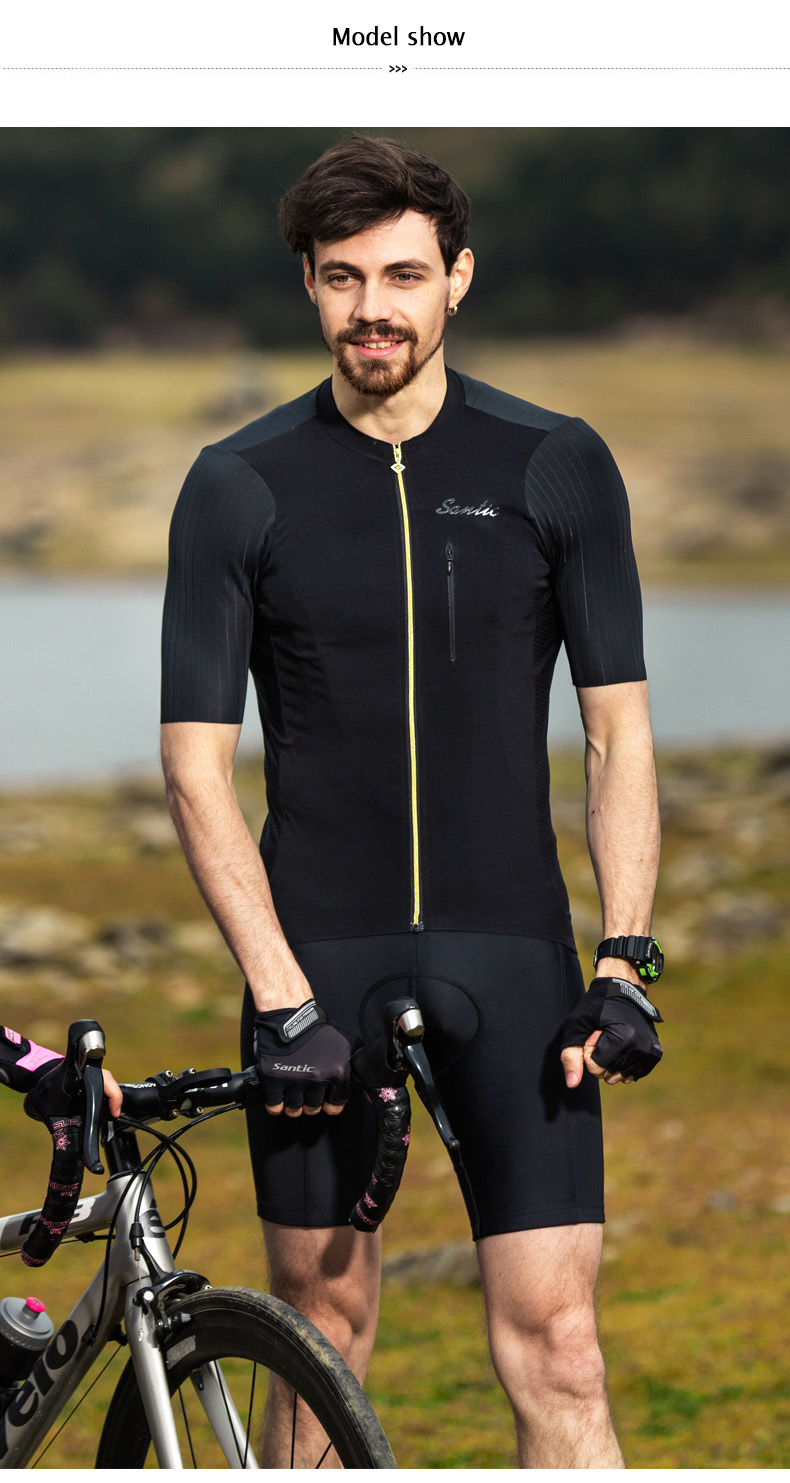 2018 SANTIC Cycling Jersey Men Bike Short Sleeve Maillot Ciclismo MTB Bycicle Clothing Men's Downhill Cycling Top Tops Jersey (5)