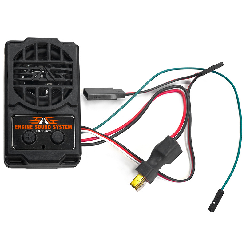 2 in 1 ESS Engine Sound Simulation System SG-SZ03 Audio Sound with Loudspeaker for RC Climbing Car Army Truck Trailer