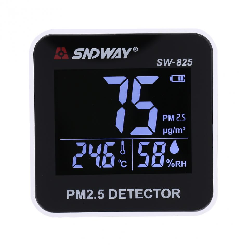 SNDWAY SW-825 Digital Air Quality Monitor Laser PM2.5 Detector Gas Monitor/Gas Analyzer/Temperature Humidity Meter Tool
