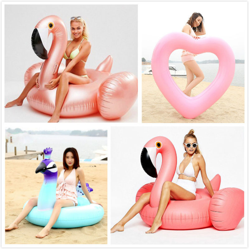 Giant Swan Watermelon Floats Pineapple Flamingo Swimming Ring Unicorn Inflatable Pool Float <font><b>For</b></font> Child&Adult <font><b>Water</b></font> <font><b>Toys</b></font> image