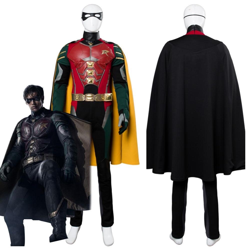 Titans Robin Cosplay Costume Richard Grayson Costume -6559