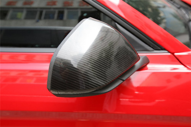 Car-Styling-For-Ford-2015-Mustang-Carbon-Fiber-Mirror-Cover-Stick-On-Type-