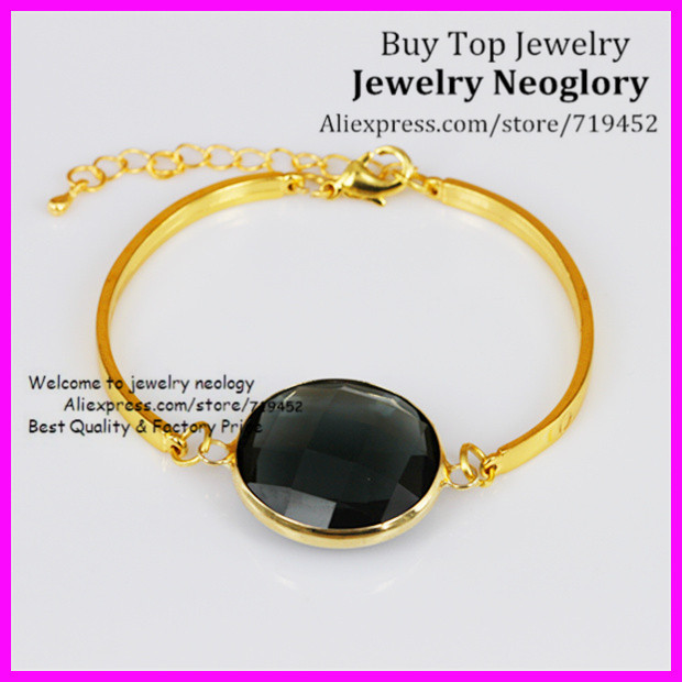 67c9cc9cb54a ⃝10 piezas nuevo estilo de vidrio negro pulsera de cuarzo brazalete ...