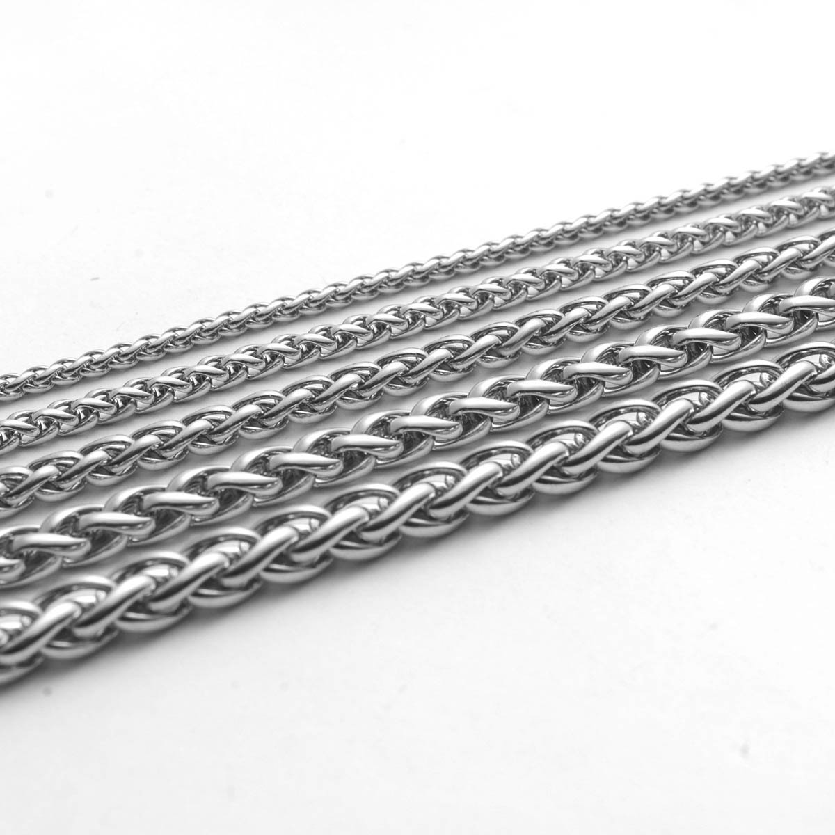 Fashion Keel Chain Male Stainless Steel Necklace 2.5/3/4/5/6mm Round Circle 20'' 27'' Basic Chain For Diy Jewelry Making Supply