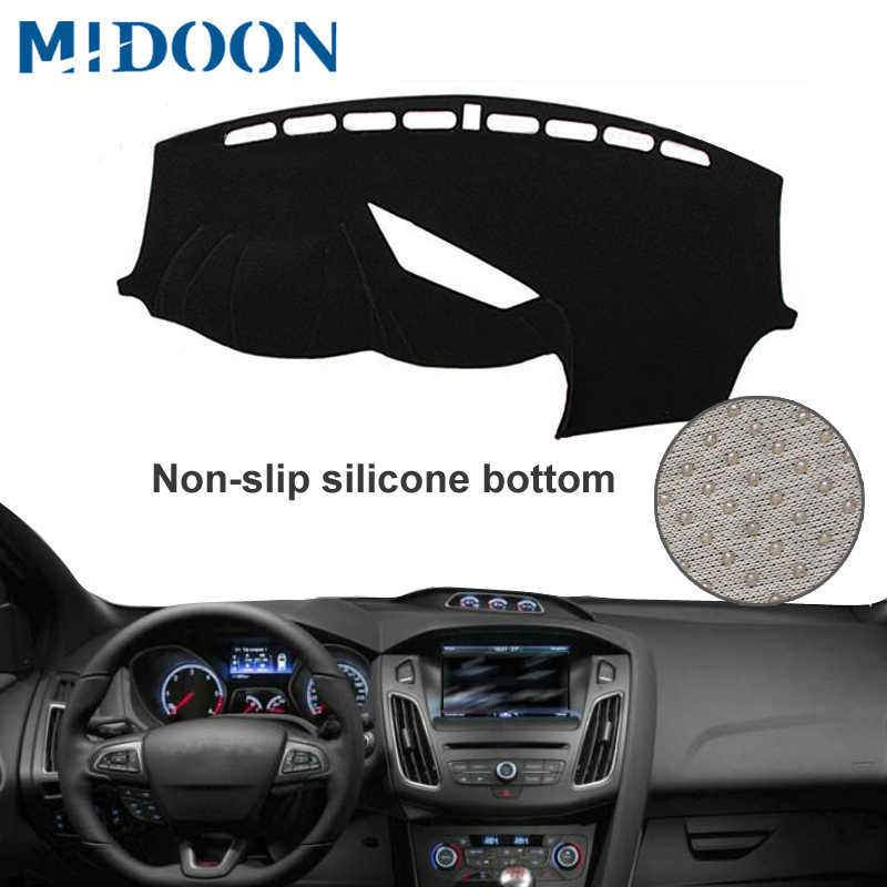 Car Styling Accessories BTSDLXX 1Pcs Auto Dashboard Cover Mat for Ford Focus ST RS 2012-2018 Instrument Panel Shade Pad Non Slip Sun Protection Carpets
