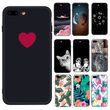 Cute Cactus Painted Siliocne TPU Case For iPhone 7 6 6S 8 Plus X 10 Fashion Pattern Matte Slim Cover For iPhone XS Max XR Capa(China)