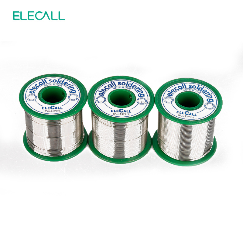 ELECALL New Arrival Tin 0.5mm 450g 99.3SN Rosin Core Tin/Lead Free Rosin Roll Flux Reel Melt Core Soldering Tin Solder Wire qitian b5510200g lead tin soldering wire wick roll silver