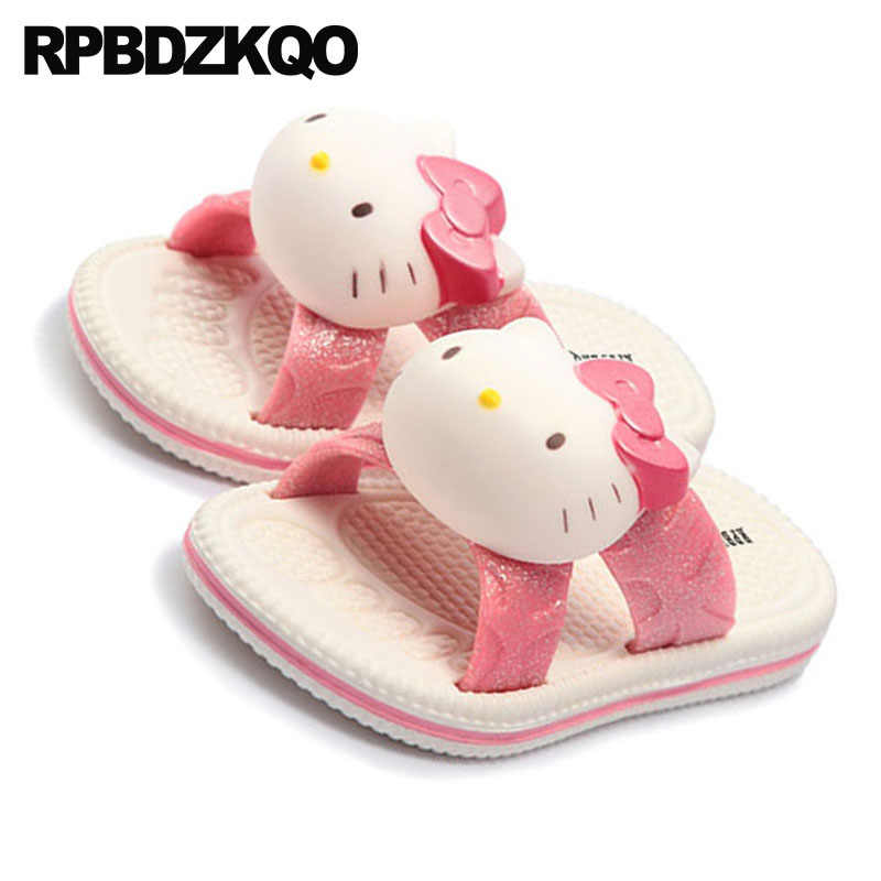 86cc5129b ... cartoon embellished hello kitty most popular products animal bathroom  slip on women pink indoor house shoes ...