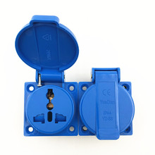 цена на Multi - function industry safety outlet 10A 250V IP44 CE  universal waterproof power connector socket