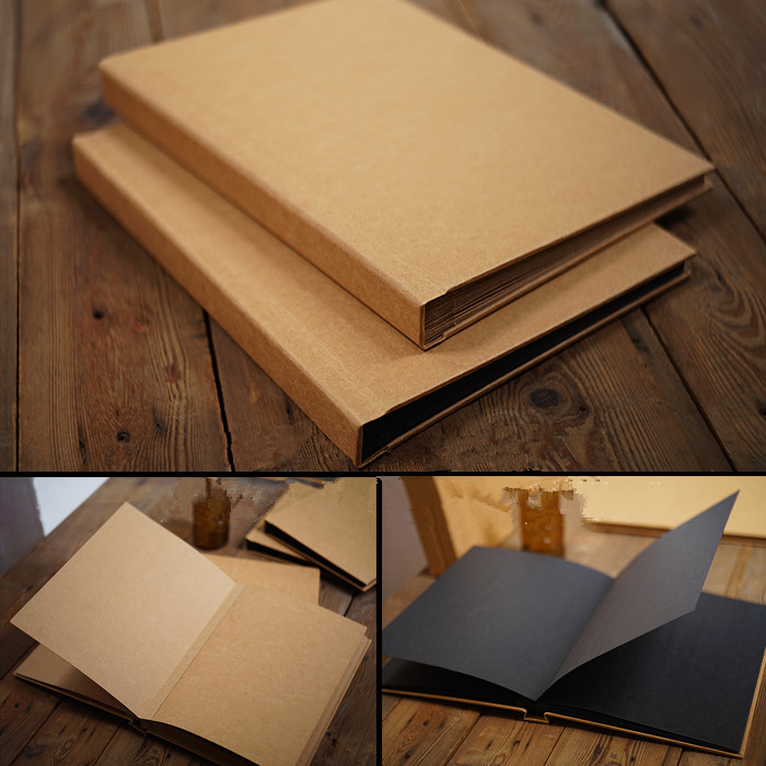 Hotselling Perfect Binding Butterfly Hardcover Kraft Retro DIY Album Skrabbuking 101 200 Sheets Creative Photo Albums