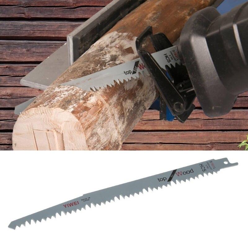5 piezas de acero de alto carbono de 240mm hojas de sierra recíproca para madera