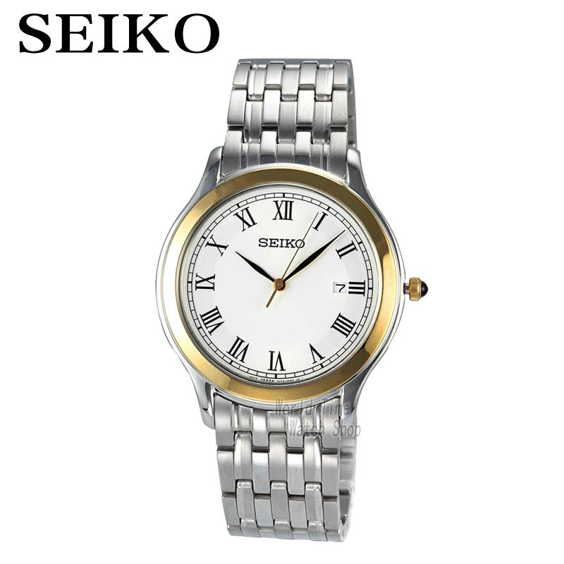 SEIKO Watch quartz men 's ultra - thin section of strip fashion simple business SKK706P1 ultra thin watch male student korean version of the simple fashion trend fashion watch waterproof leather watch men s watch quar