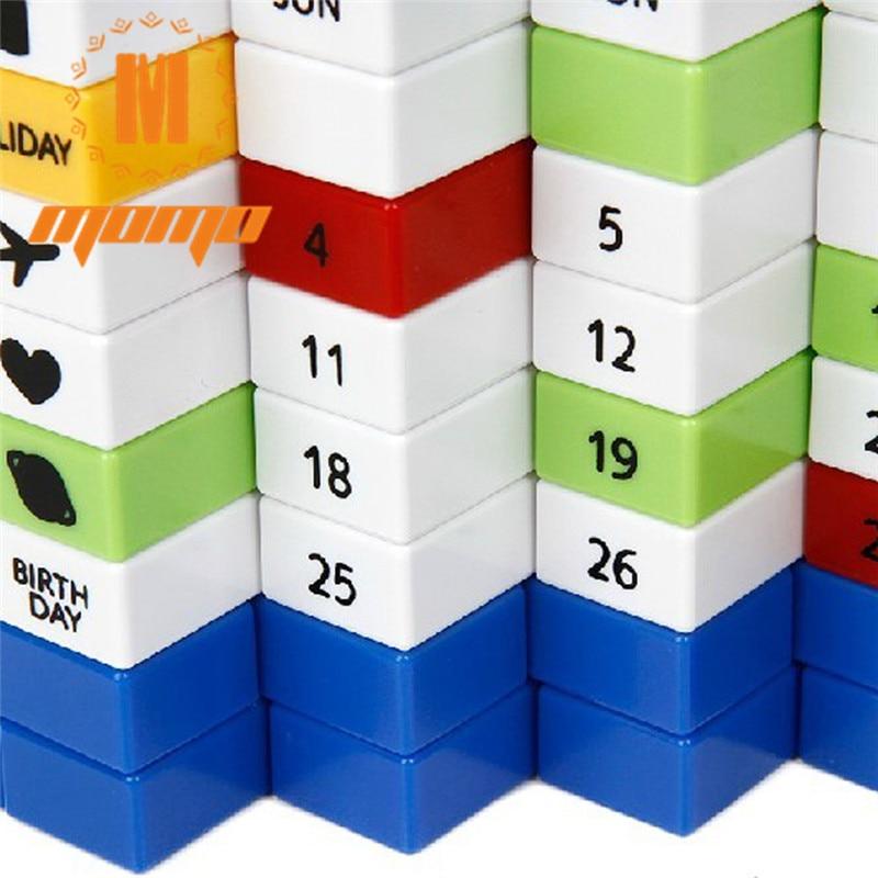Free shipping 1 pcs Cute Puzzle Calendar Perpetual Calendar Module